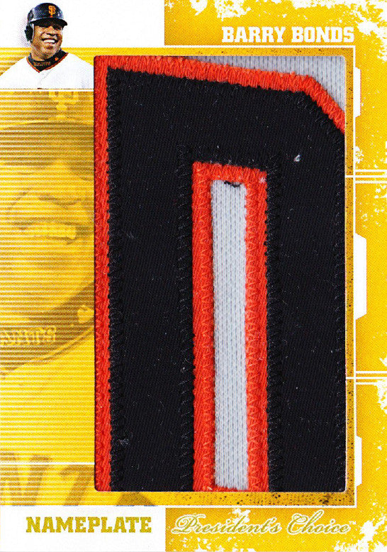Barry Bonds (D) Nameplates 1/1
