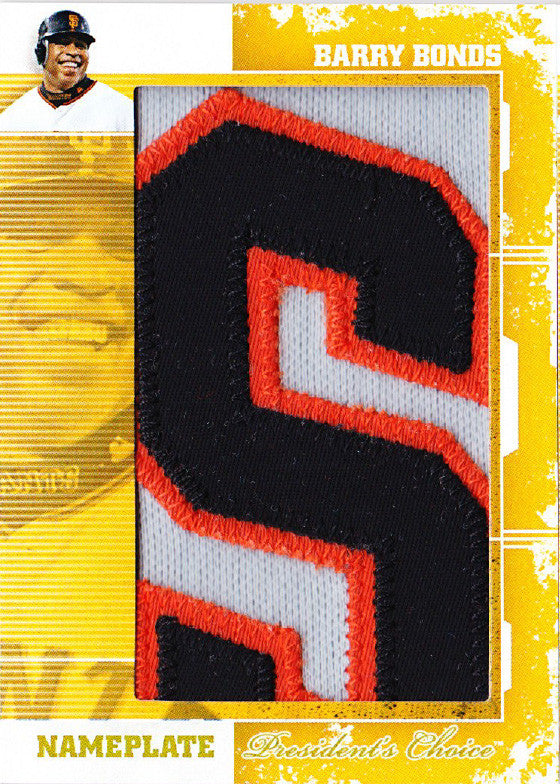 Barry Bonds (S) Nameplates 1/1
