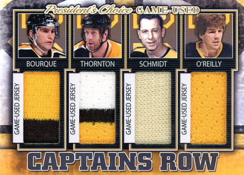 Boston Bruins Captains Row #'d 2/5