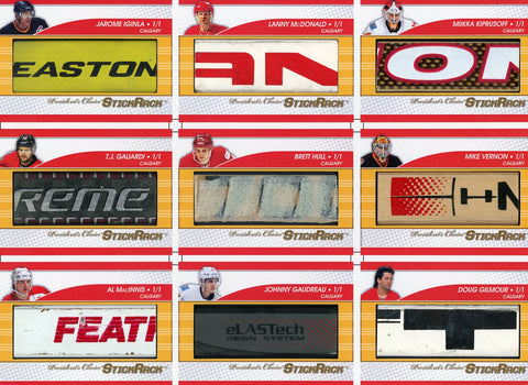 Calgary Flames Franchise Uncut Sheet /3