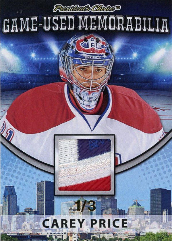 Carey Price Game-Used Memorabilia /3