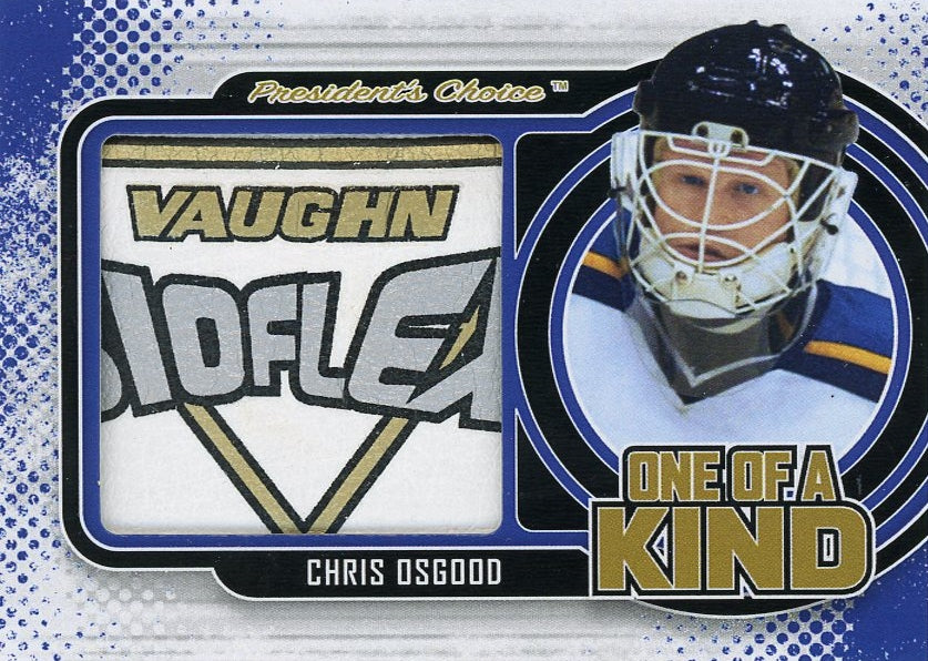 Chris Osgood (white trapper) One of a Kind 1/1