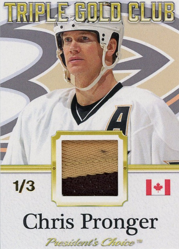 Chris Pronger Triple Gold Club /3