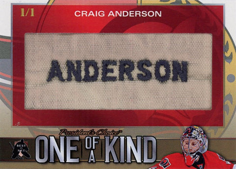 Craig Anderson One of a Kind 1/1