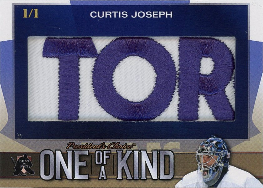 Curtis Joseph One of a Kind 1/1 (Patch)