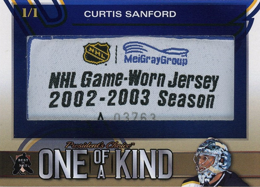Curtis Sanford One of a Kind 1/1