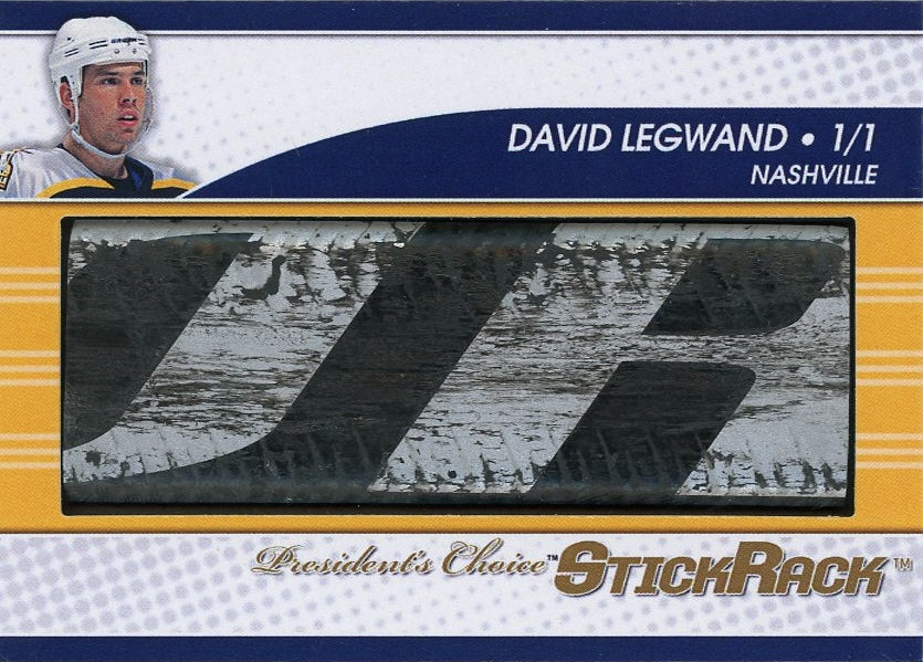 David Legwand (white helmet) StickRack 1/1