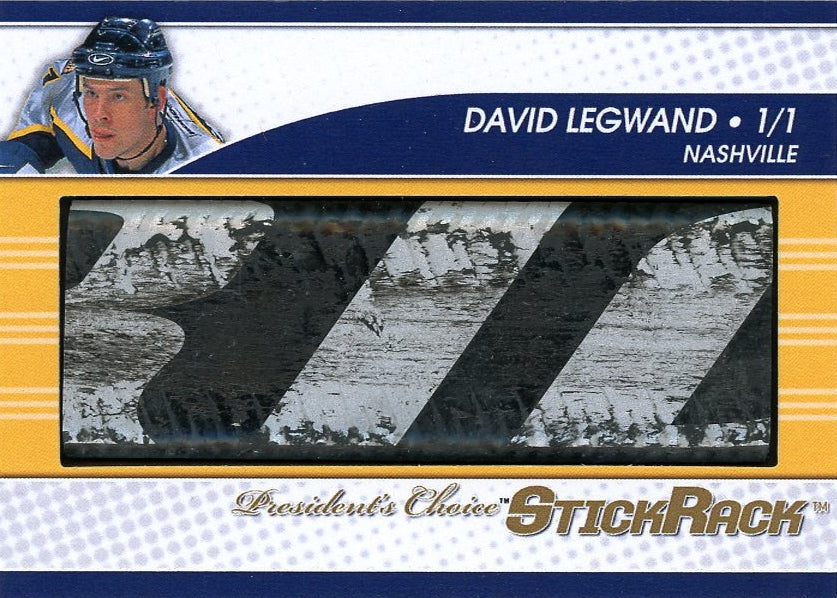 David Legwand (blue helmet) StickRack 1/1