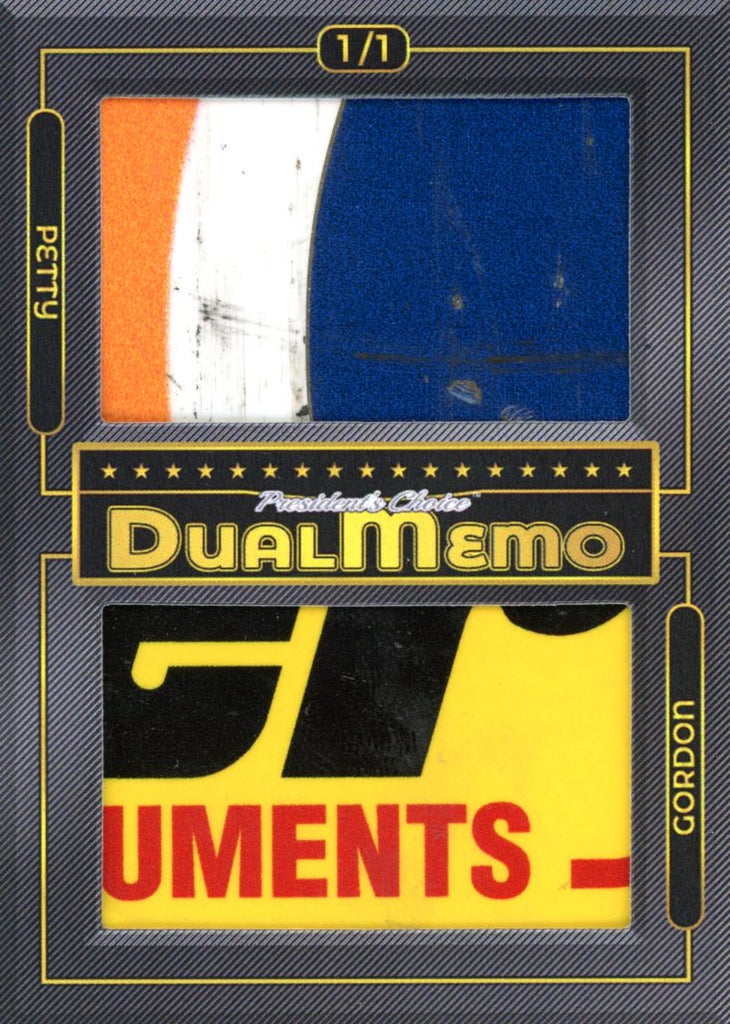 Kyle Petty / Jeff Gordon 1/1 DualMemo