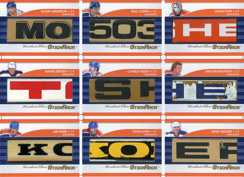 Edmonton Oilers All-Time Greats Uncut Sheet /3