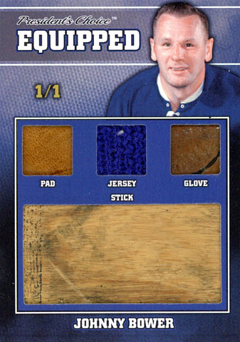 Johnny Bower 1/1 Equipped