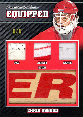 Chris Osgood 1/1 Equipped
