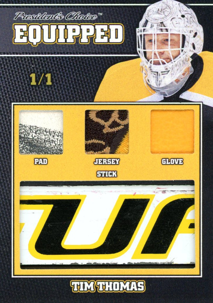 Tim Thomas 1/1 Equipped