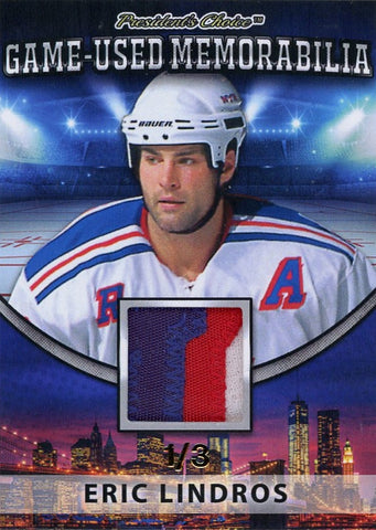 Eric Lindros (NY Rangers) Game-Used Memorabilia /3