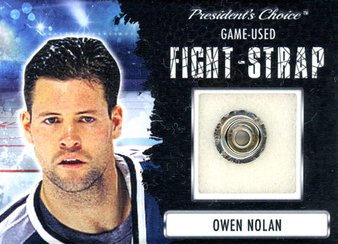 Owen Nolan Fight-Strap #'d 3/3