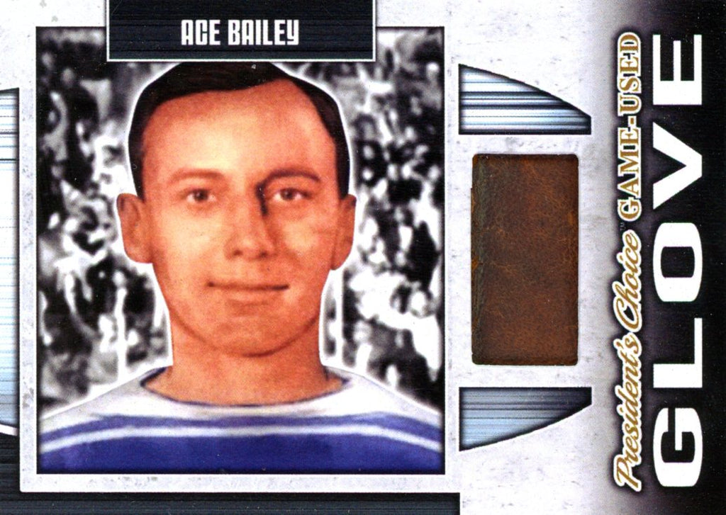 Ace Bailey Game-Used Glove #'d 1/1