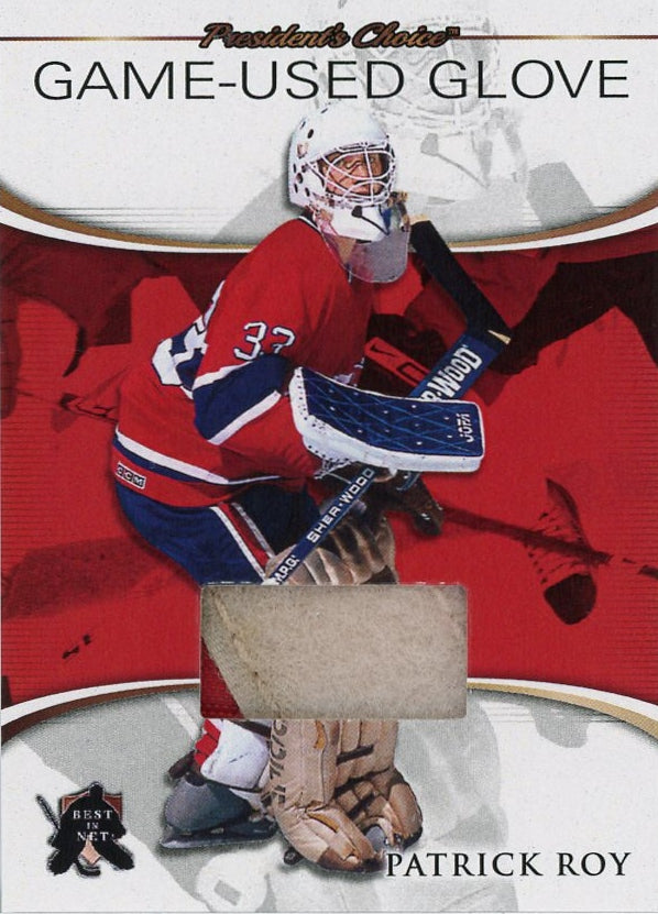 Patrick Roy Game-Used Glove /3 (Montreal)