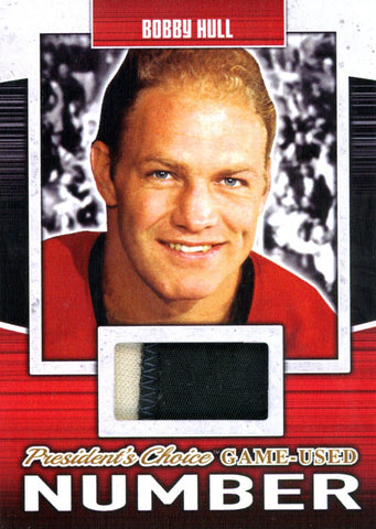Bobby Hull Game-Used Number #'d 2/5