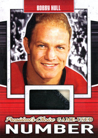 Bobby Hull Game-Used Number #'d 3/5