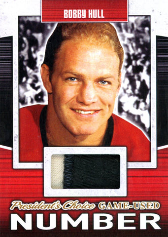 Bobby Hull Game-Used Number #'d 4/5