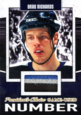 Brad Richards Game-Used Number #'d 2/5