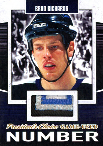 Brad Richards Game-Used Number #'d 3/5
