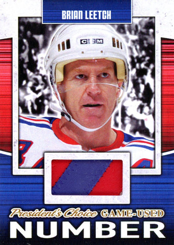 Brian Leetch Game-Used Number #'d 2/5