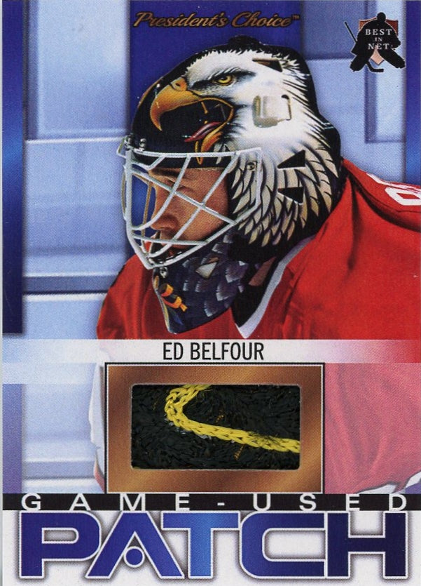 Ed Belfour (1996 All-Star Game) Game-Used Patch /3