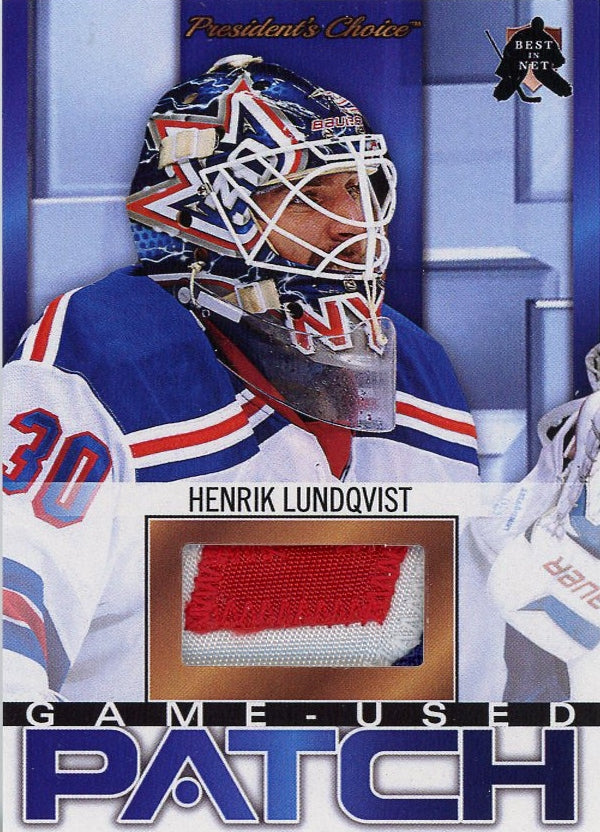 Henrik Lundqvist New York Game Used Patch 3 President S Choice