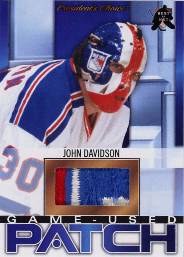 John Davidson (New York) Game-Used Patch /3