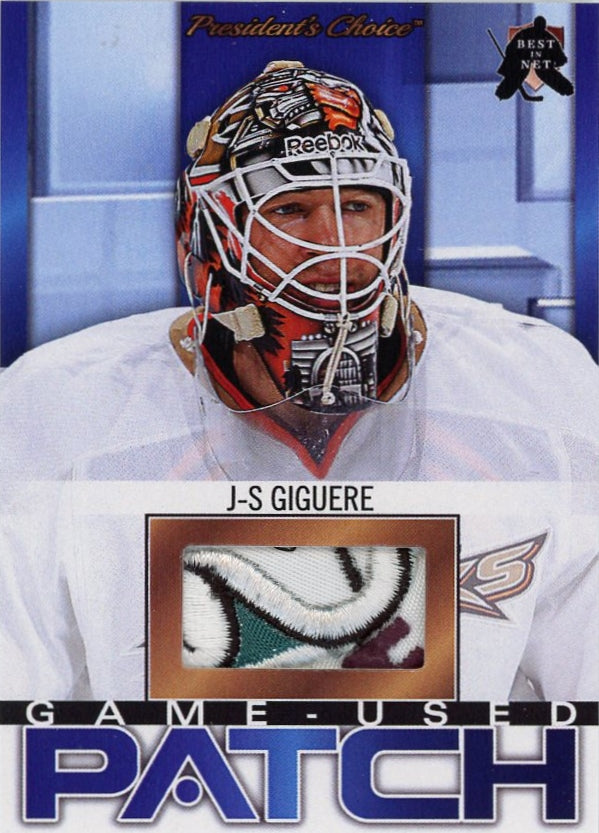 J-S Giguere (Anaheim) Game-Used Patch /3
