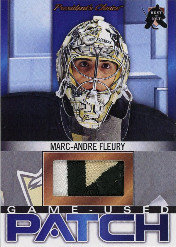 Marc-Andre Fleury (Pittsburgh) Game-Used Patch /3