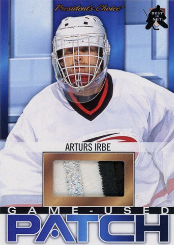 Arturs Irbe (Carolina) Game-Used Patch /3