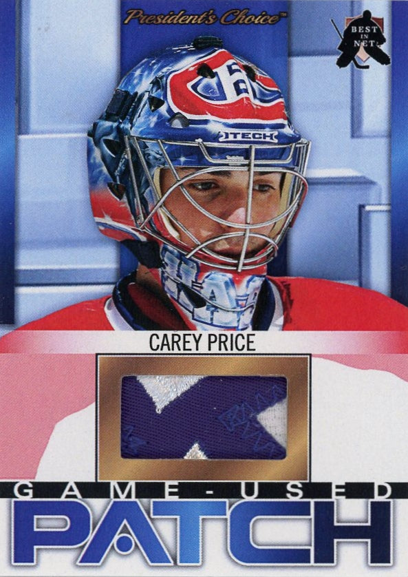 Carey Price (Montreal) Game-Used Patch /3