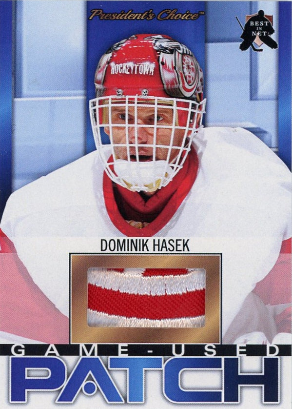 Dominik Hasek (Detroit) Game-Used Patch /3