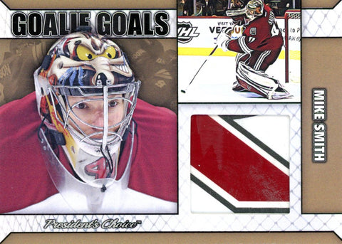 Mike Smith Goalie Goal Gold 1/1