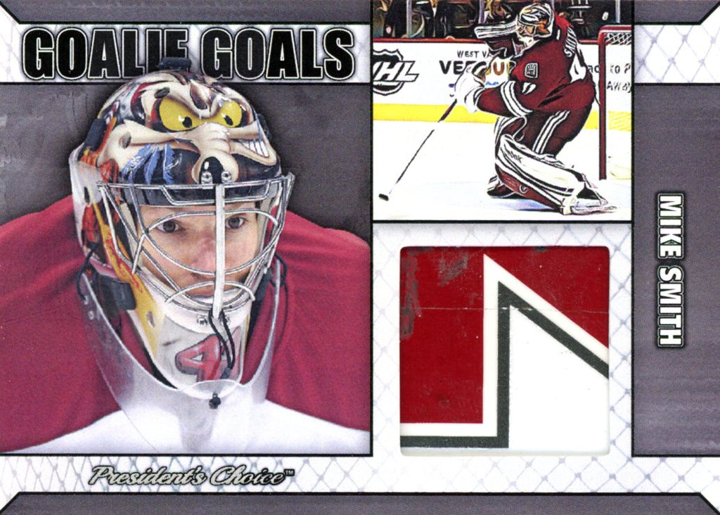 Mike Smith Goalie Goal Silver 3/3