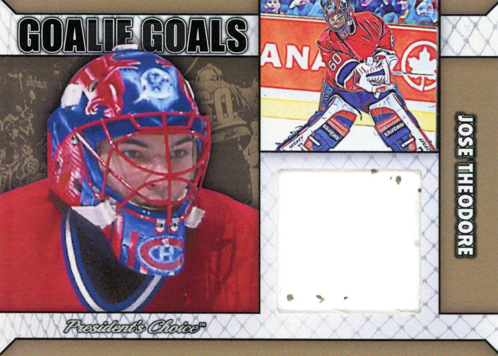 Jose Theodore Goalie Goal Gold 1/1