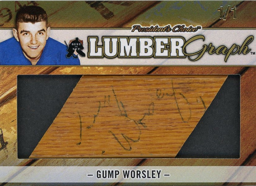 Gump Worsley LumberGraphs 1/1