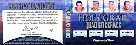 Montreal Canadiens 60s Holy Grail Quad StickRack Booklet 3/3