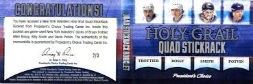 New York Islanders Holy Grail Quad StickRack Booklet 2/3