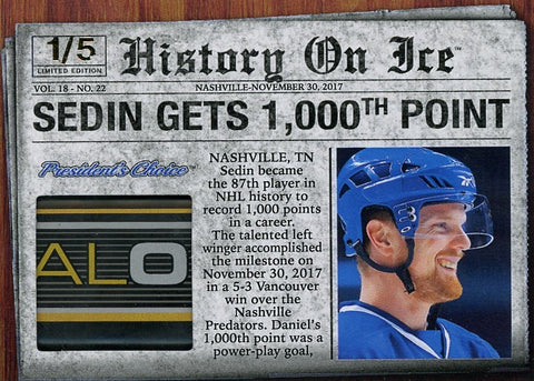 Daniel Sedin Records 1,000th Point /5