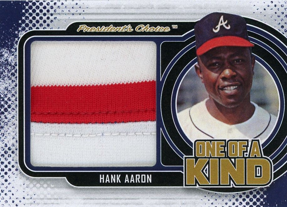 Hank Aaron One of A Kind 1/1