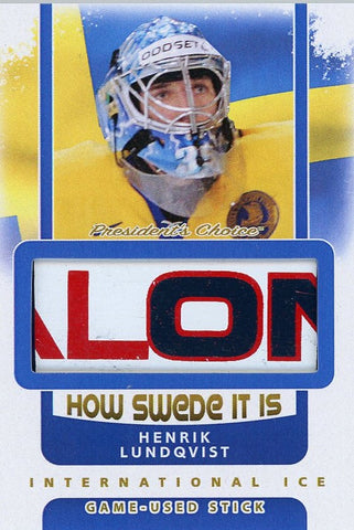 Henrik Lundqvist Game-Used Stick /3