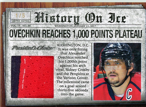 Alex Ovechkin Scores 1000th Point /5