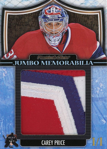 Carey Price Jersey Patch Jumbo Memorabilia 1/1