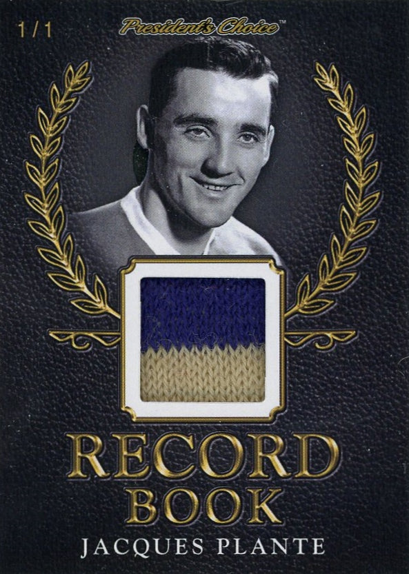 Jacques Plante Record Book 1/1