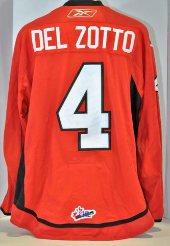 Michael Del Zotto 2008 Canada/Russia Challenge Authentic Game Used Jersey