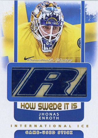 Jhonas Enroth Game-Used Stick /3