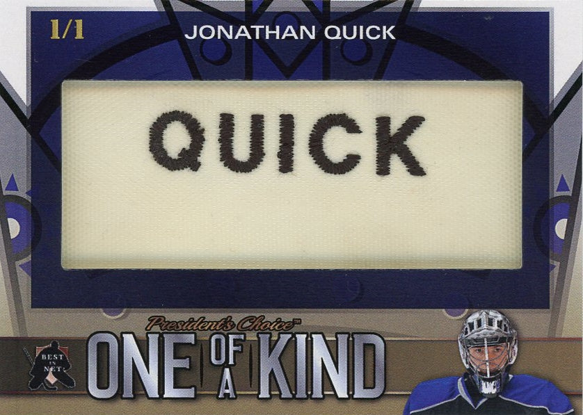 Jonathan Quick One of a Kind 1/1
